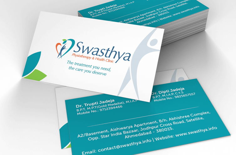 Swasthya Visiting Card Design