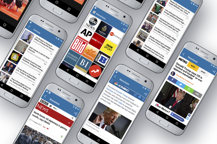 Newsiness Android Application