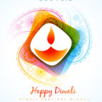 vector colorful diwali diya style background